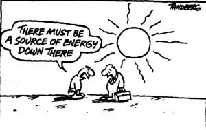 Solar Joke on oil